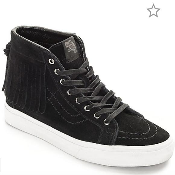 vans shoes women black